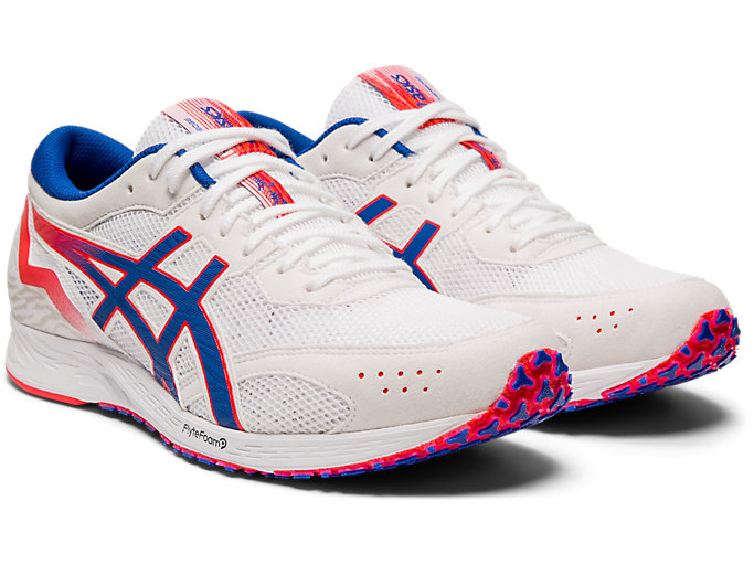Front Right view of TARTHEREDGE™, WHITE/ASICS BLUE