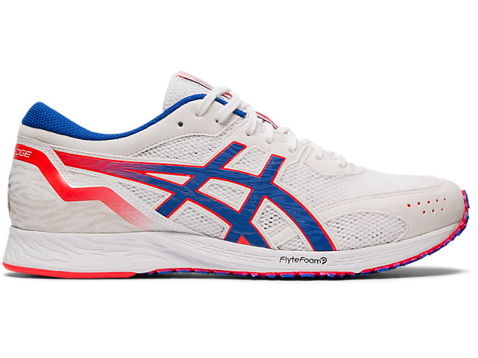 Right side view of TARTHEREDGE, WHITE/ASICS BLUE