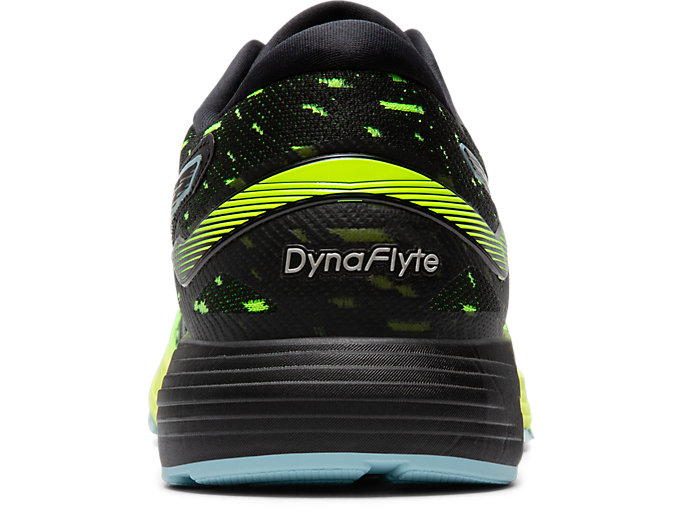 Back view of DYNAFLYTE™ 4, BLACK/SAFETY YELLOW