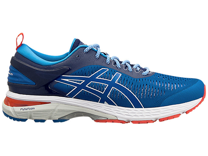 Right side view of ASICS X Mita GEL-Kayano 25 TRICO, INDIGO BLUE/DIRECTOIRE BLUE