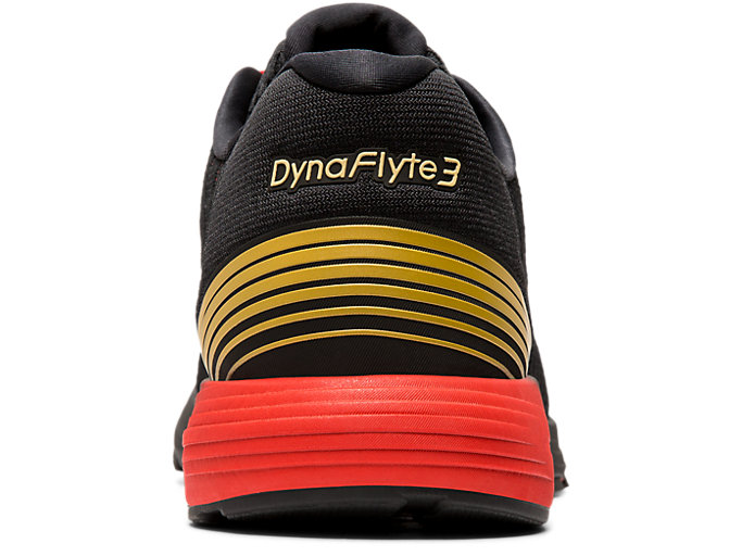 Back view of DYNAFLYTE 3, BLACK/RICH GOLD