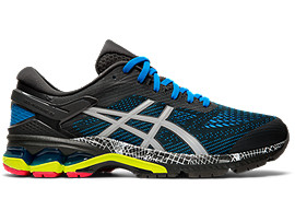 Right side view of GEL-KAYANO 26 LS, GRAPHITE GREY/PIEDMONT GREY