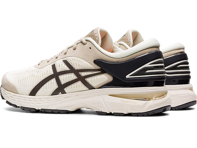 Front Left view of GEL-KAYANO 25, BIRCH/PHANTOM