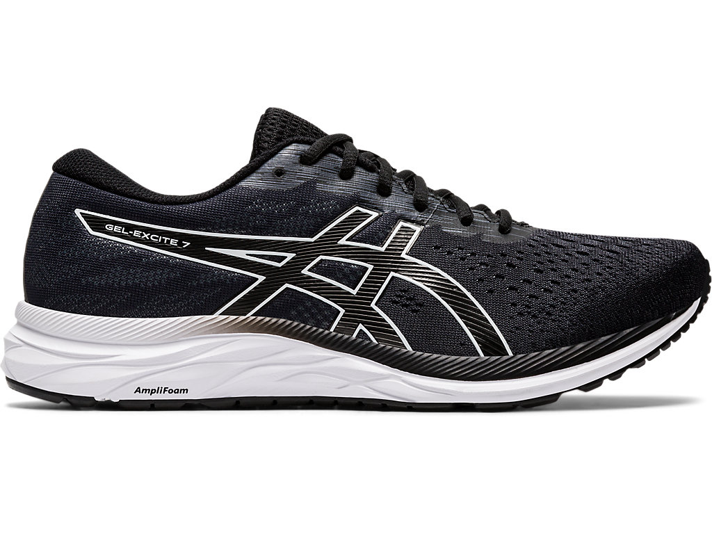 black and white asics shoes