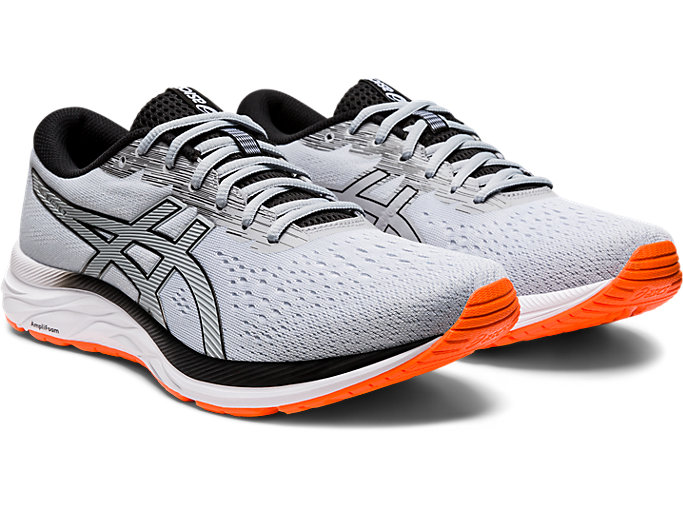 Front Right view of GEL-EXCITE™ 7, PIEDMONT GREY/BLACK