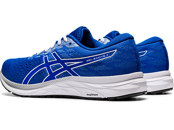 Front Left view of GEL-EXCITE™ 7, TUNA BLUE/WHITE