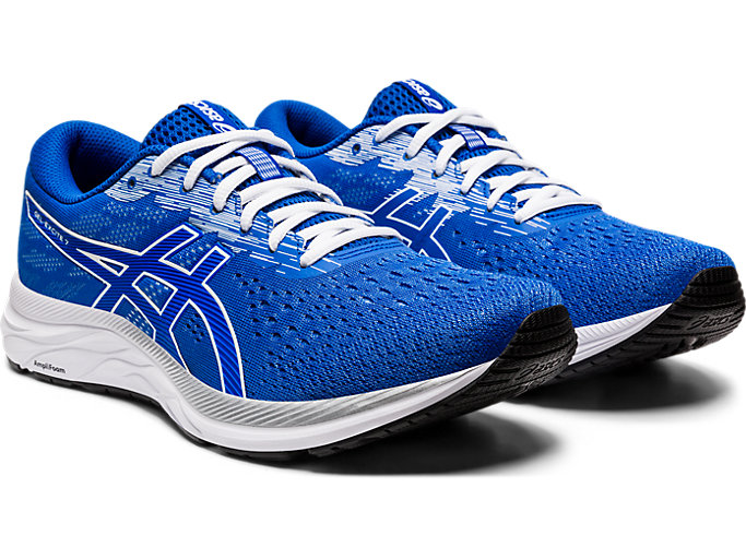 Front Right view of GEL-EXCITE™ 7, TUNA BLUE/WHITE
