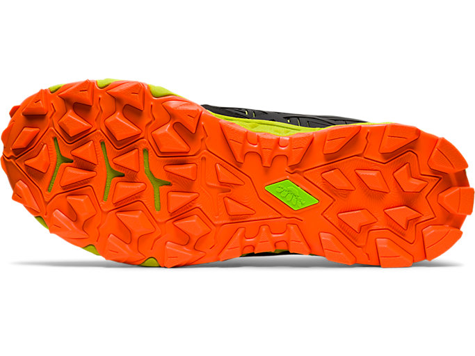 Bottom view of GEL-FUJITRABUCO™ 8, NEON LIME/SHOCKING ORANGE