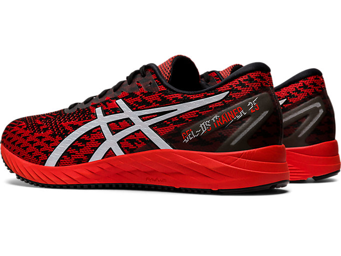 Front Left view of GEL-DS TRAINER™ 25, FIERY RED/WHITE
