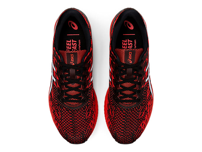 Top view of GEL-DS TRAINER™ 25, FIERY RED/WHITE