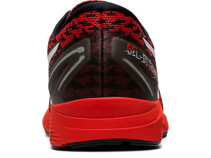 Back view of GEL-DS TRAINER™ 25, FIERY RED/WHITE