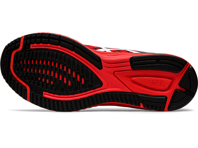 Bottom view of GEL-DS TRAINER™ 25, FIERY RED/WHITE