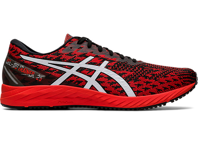 Right side view of GEL-DS TRAINER 25, FIERY RED/WHITE