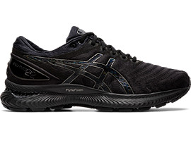 Right side view of GEL-NIMBUS 22, BLACK/BLACK