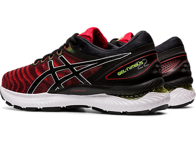 Front Left view of GEL-NIMBUS™ 22, CLASSIC RED/BLACK