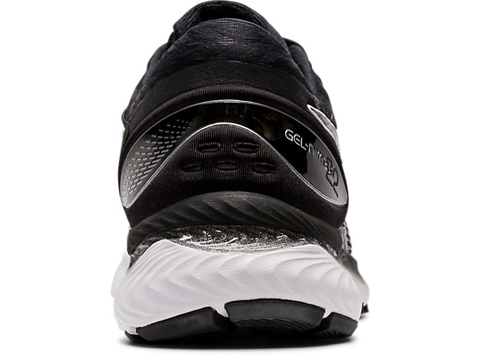 Back view of GEL-NIMBUS™ 22 (WIDE), WHITE/BLACK