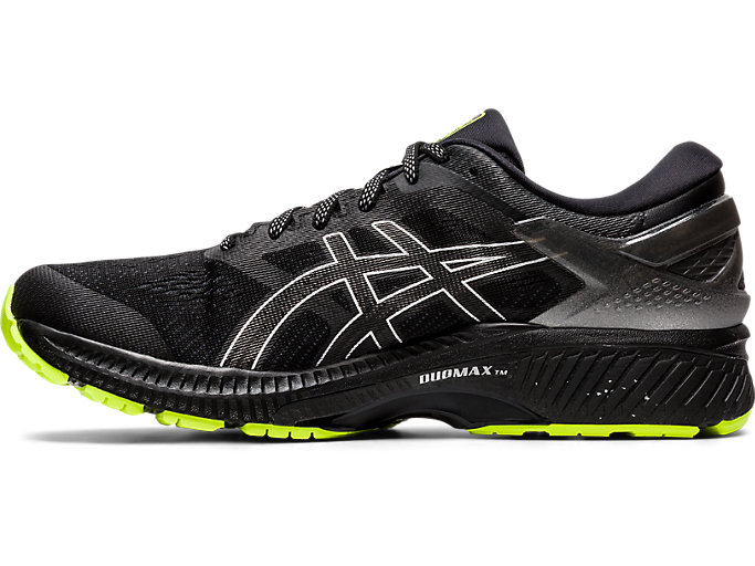 Left side view of GEL-KAYANO™ 26 LITE-SHOW, BLACK/BLACK