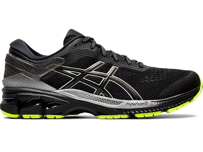 Right side view of GEL-KAYANO™ 26 LITE-SHOW, BLACK/BLACK