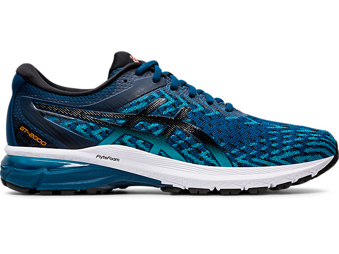 Right side view of GT-2000 8 KNIT, MAKO BLUE/BLACK