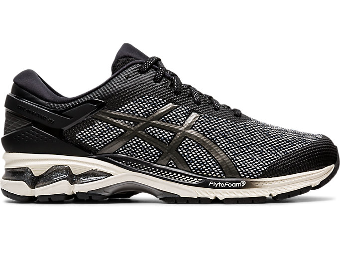 Right side view of GEL-KAYANO™ 26 MX, BLACK/GUNMETAL