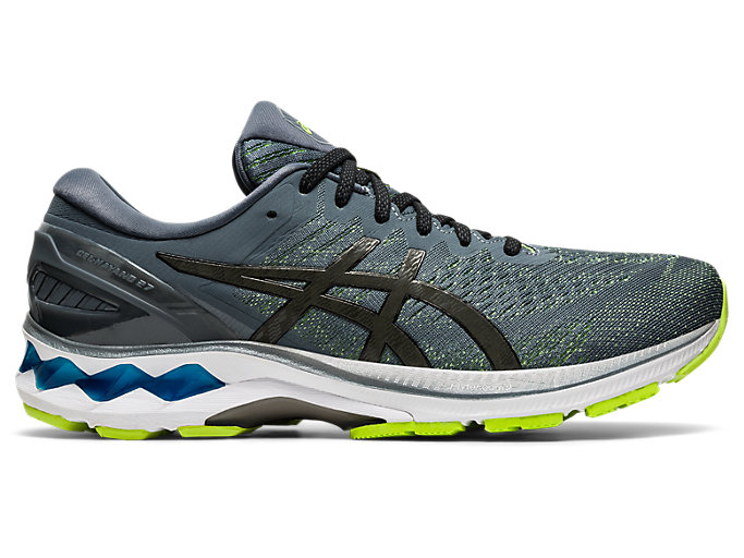 Right side view of GEL-KAYANO 27, METROPOLIS/GUNMETAL