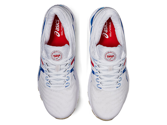 Top view of GEL-NIMBUS™ 22, WHITE/ELECTRIC BLUE