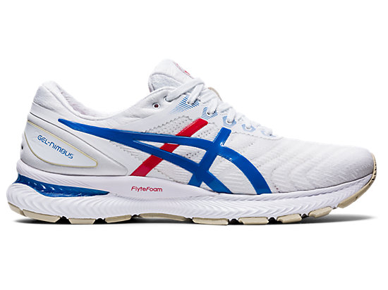 GEL-NIMBUS 22 WHITE/ELECTRIC BLUE