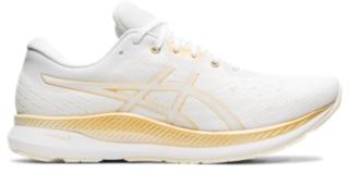 asics womens running shoes for flat feet yellow