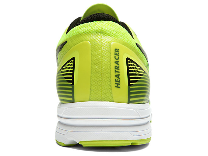 Back view of HEATRACER 2, SAFETY YELLOW/BLACK