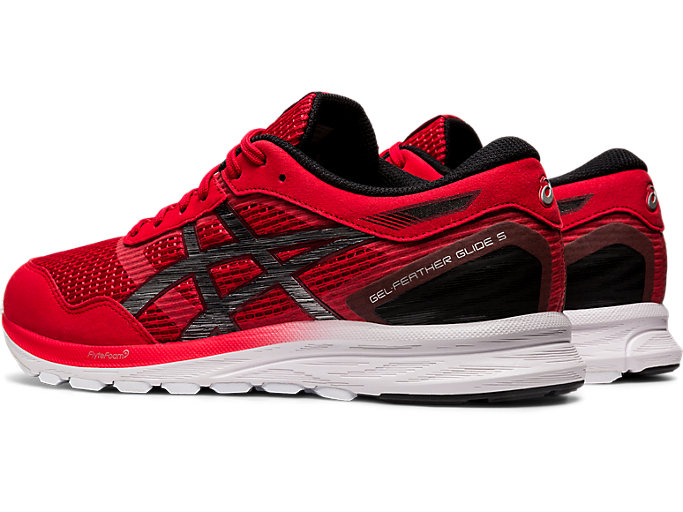 Front Left view of GEL-FEATHER GLIDE 5, CLASSIC RED/BLACK