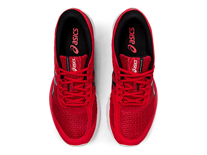Top view of GEL-FEATHER GLIDE 5, CLASSIC RED/BLACK