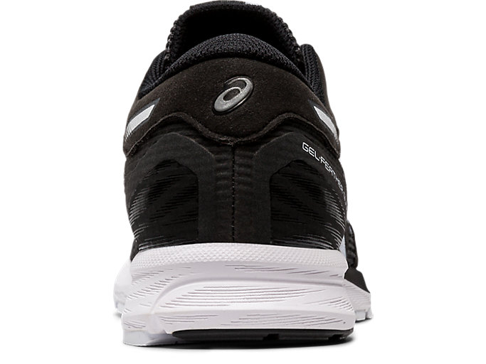 Back view of GEL-FEATHER GLIDE 5, BLACK/WHITE