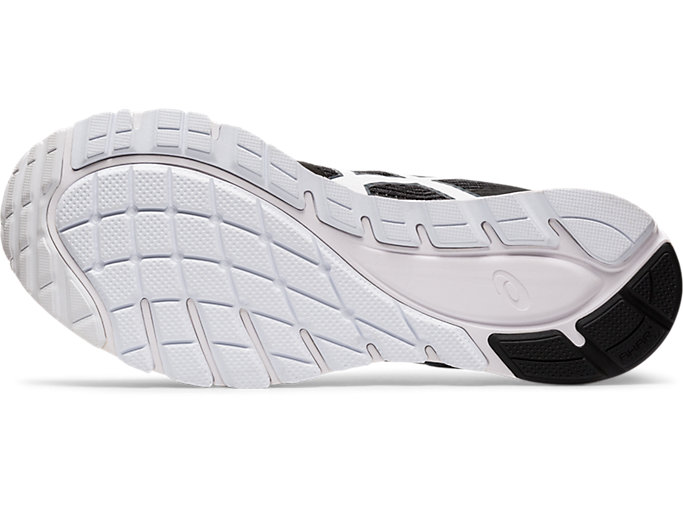 Bottom view of GEL-FEATHER GLIDE 5, BLACK/WHITE