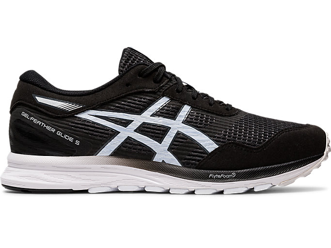 Right side view of GEL-FEATHER GLIDE 5, BLACK/WHITE