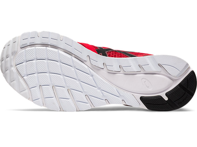 Bottom view of GEL-FEATHER GLIDE 5, CLASSIC RED/BLACK