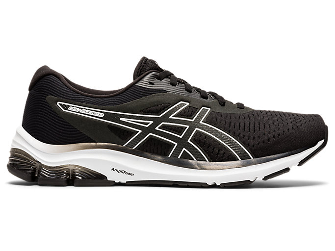 Black White Sports Breathable Asics Womens Gel-Pulse 11 Running Shoes Trainers