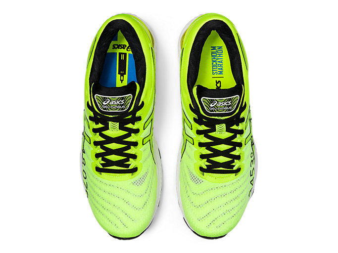 Top view of GEL-NIMBUS 22, SAFETY YELLOW/SAFETY YELLOW