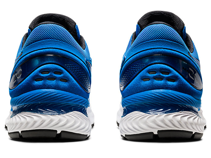 Back view of GEL-NIMBUS 22, ELECTRIC BLUE/ELECTRIC BLUE