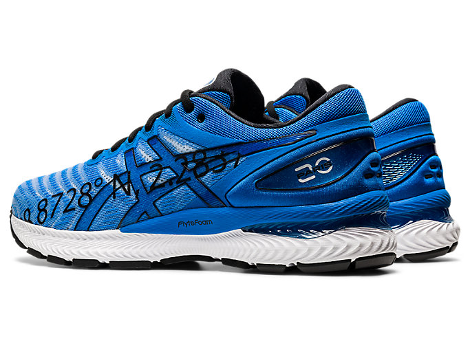 Front Left view of GEL-NIMBUS 22, ELECTRIC BLUE/ELECTRIC BLUE