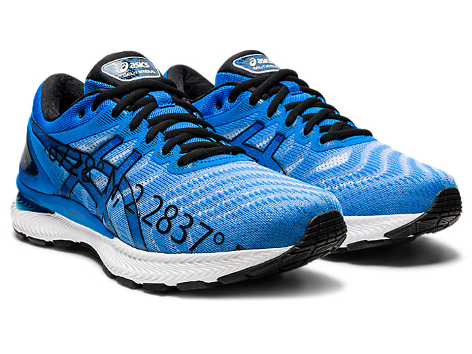 Front Right view of GEL-NIMBUS 22, ELECTRIC BLUE/ELECTRIC BLUE