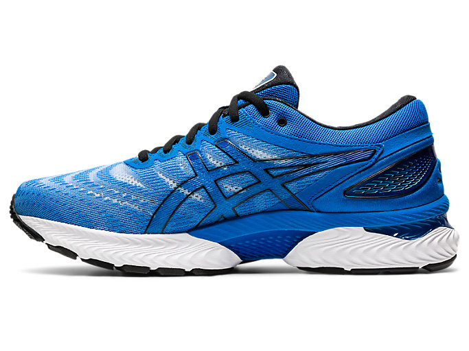 Left side view of GEL-NIMBUS 22, ELECTRIC BLUE/ELECTRIC BLUE