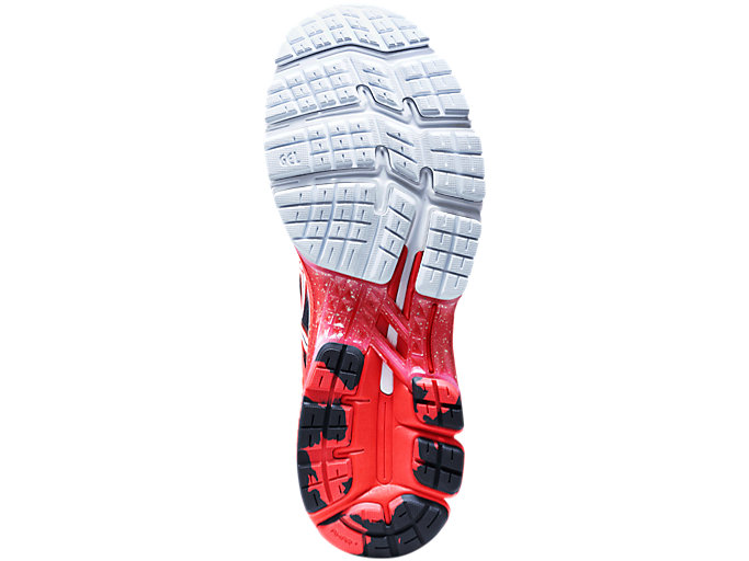 Back view of GEL-KAYANO 26 TOKYO, CLASSIC RED/WHITE