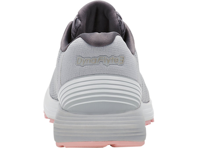 Back view of DYNAFLYTE 3, MID GREY/WHITE