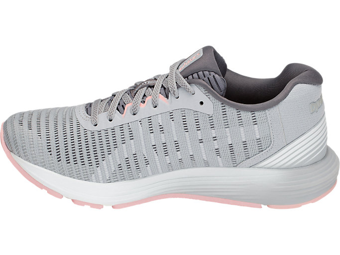 Left side view of DYNAFLYTE 3, MID GREY/WHITE