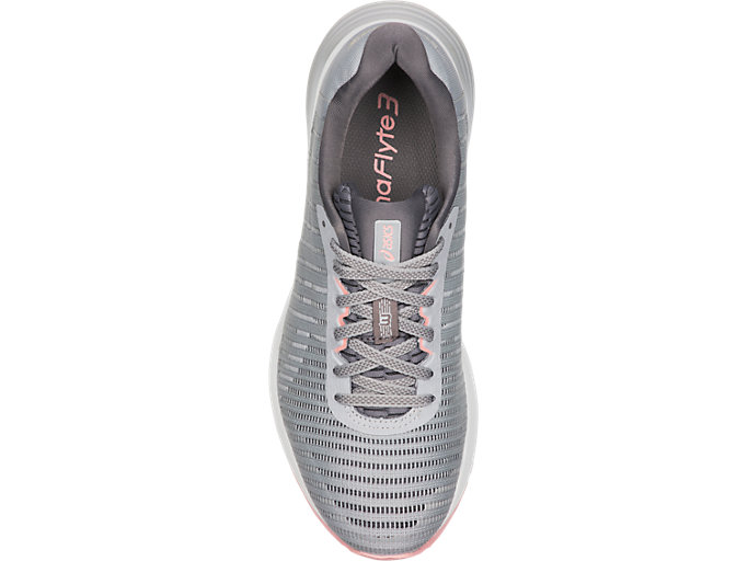 Top view of DYNAFLYTE 3, MID GREY/WHITE