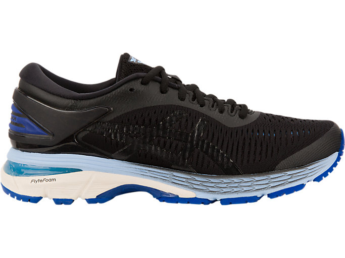 GEL-KAYANO 25, BLACK/ASICS BLUE