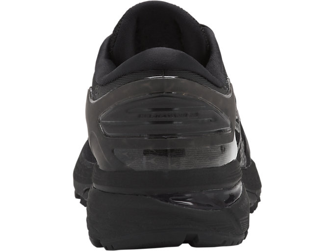 Back view of GEL-KAYANO 25, BLACK/BLACK