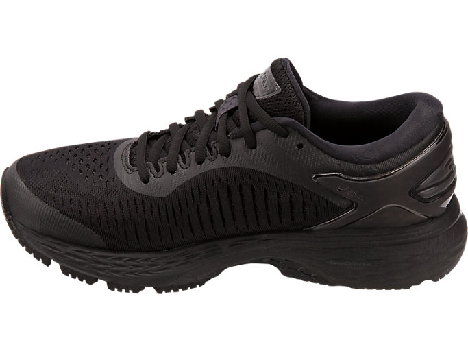 Left side view of GEL-KAYANO 25, BLACK/BLACK