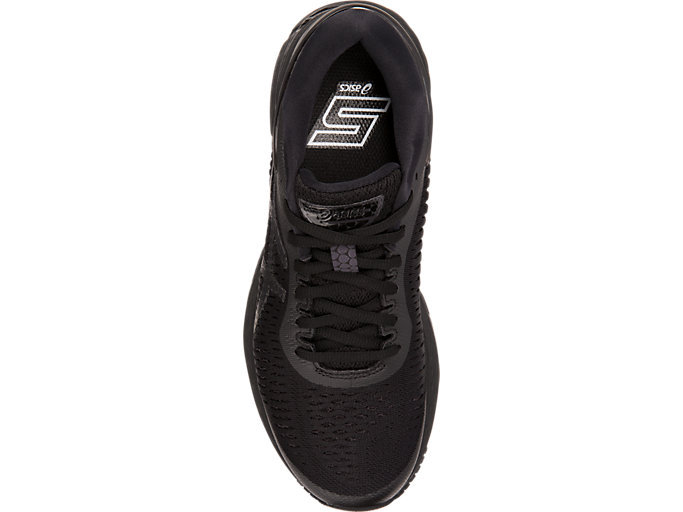 Top view of GEL-KAYANO 25, BLACK/BLACK