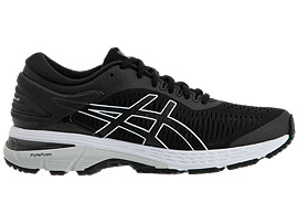 Right side view of GEL-KAYANO 25, BLACK/GLACIER GREY
